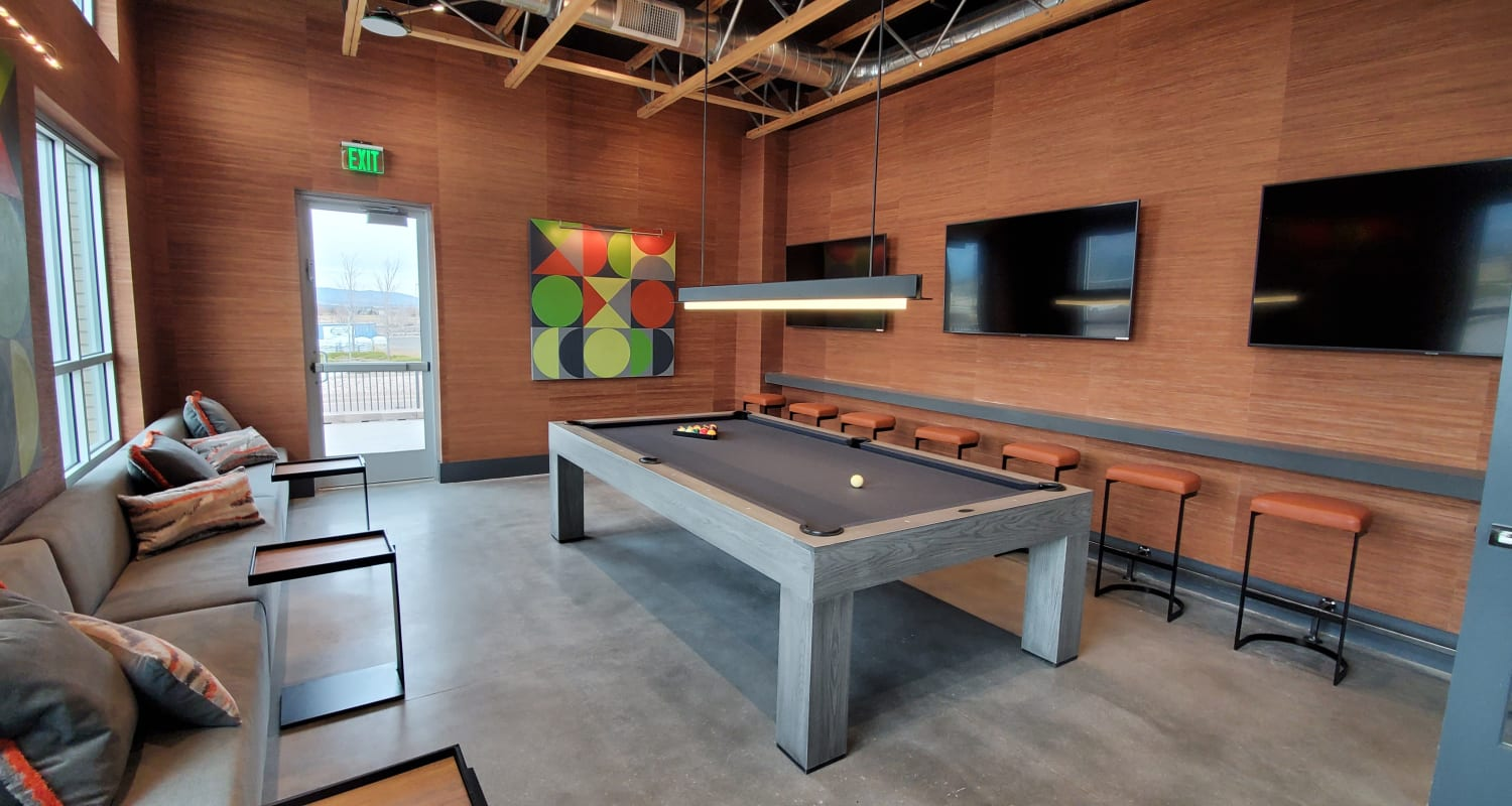 Pool table offered at FalconView in Colorado Springs, Colorado