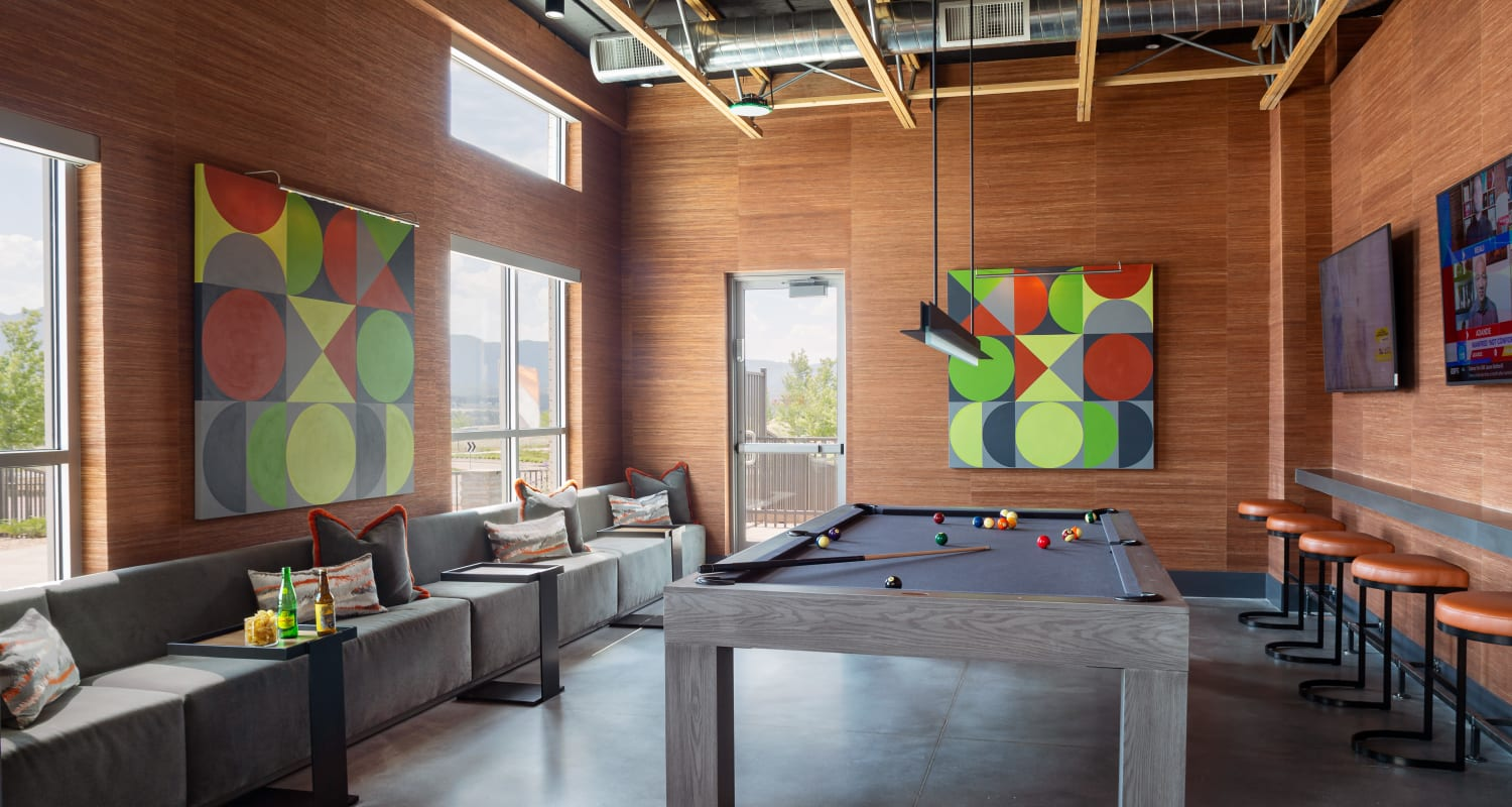 Billiards in the clubhouse at FalconView