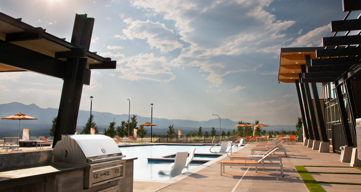 Pool Deck & BBQ area at FalconView