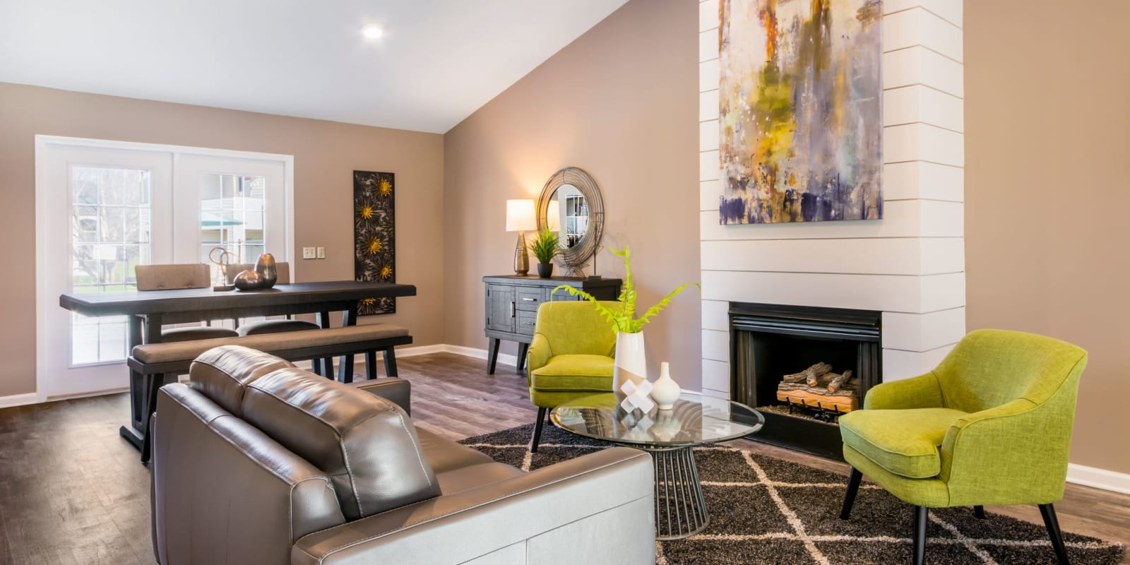 A club house with plenty a space for entertaining guests at Alexander Station Apartment Homes in Salisbury, North Carolina