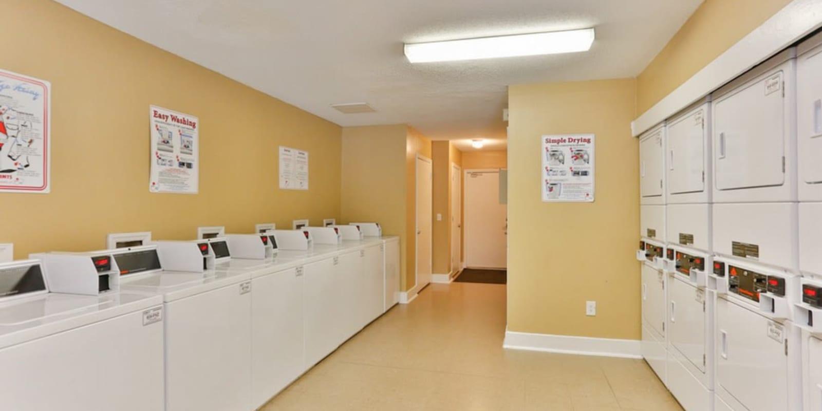 Onsite laundry facility at Huntersville Apartment Homes in Huntersville, North Carolina