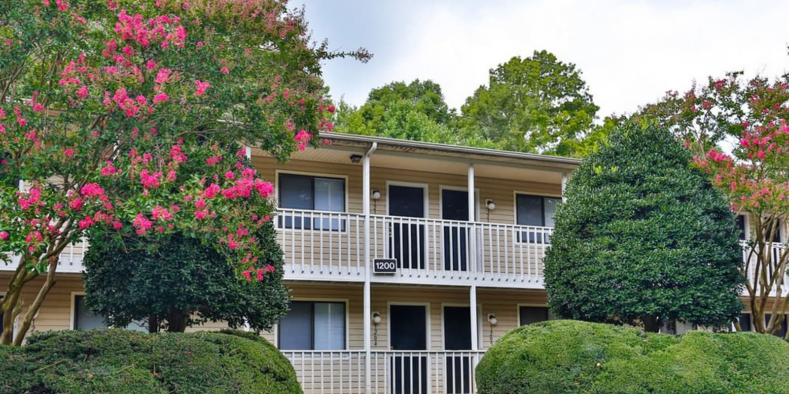 Beautiful country-side exterior at Huntersville Apartment Homes in Huntersville, North Carolina