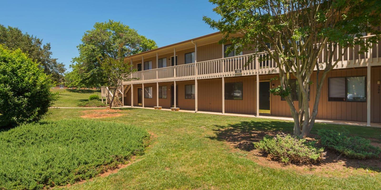 Garden-style buildings at Lakewood Apartment Homes in Salisbury, North Carolina