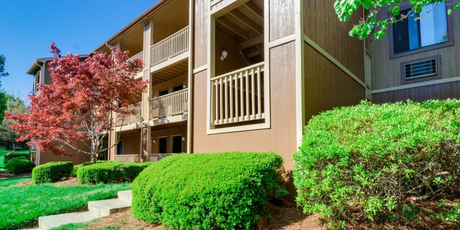 Contemporary exterior at Woodbrook Apartment Homes in Monroe, North Carolina