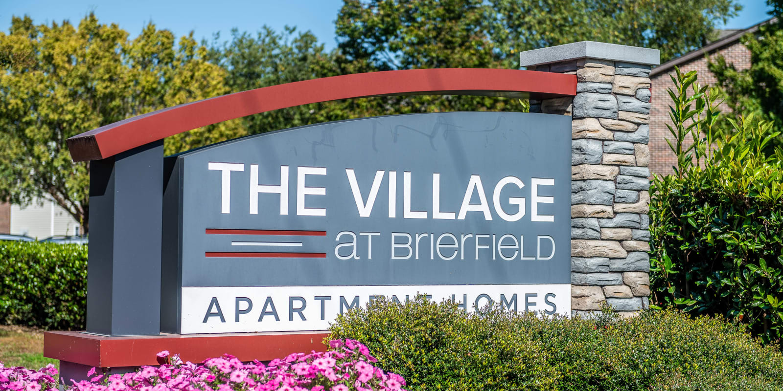Front Entrance at The Village at Brierfield Apartment Homes in Charlotte, North Carolina