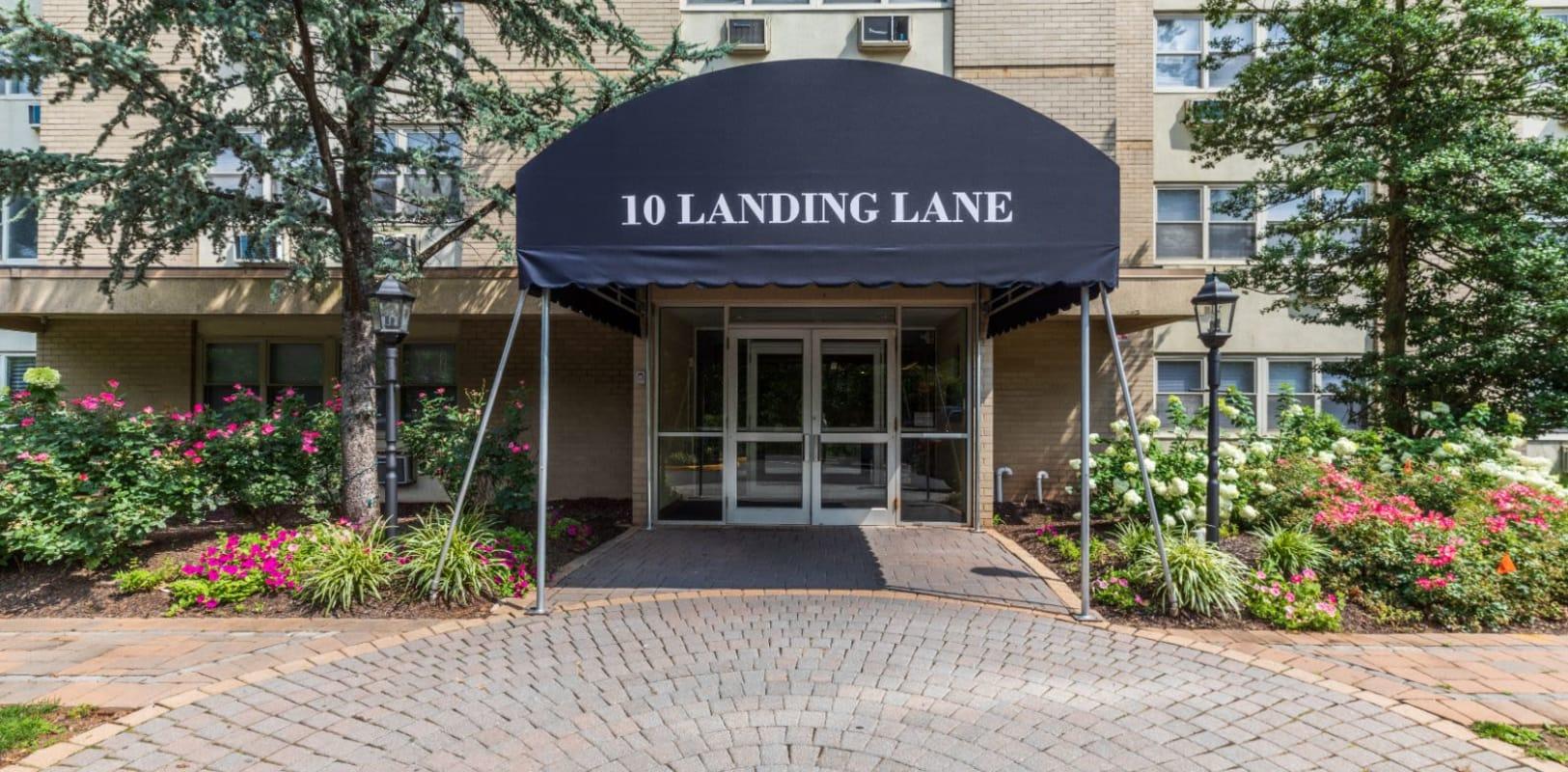 Entrance to 10 Landing Lane in New Brunswick, New Jersey