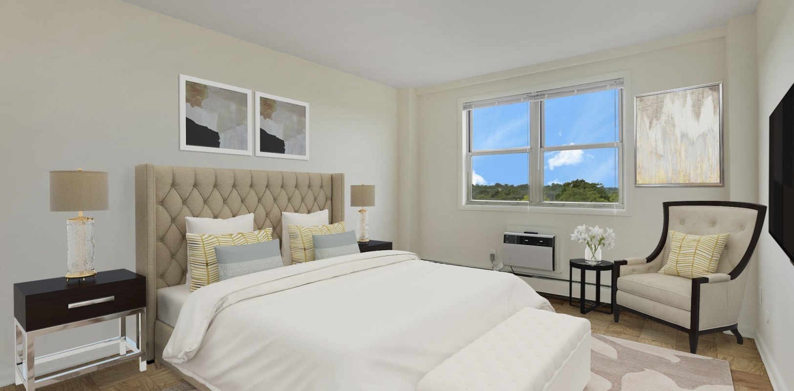 Bedroom with a view at 10 Landing Lane in New Brunswick, New Jersey