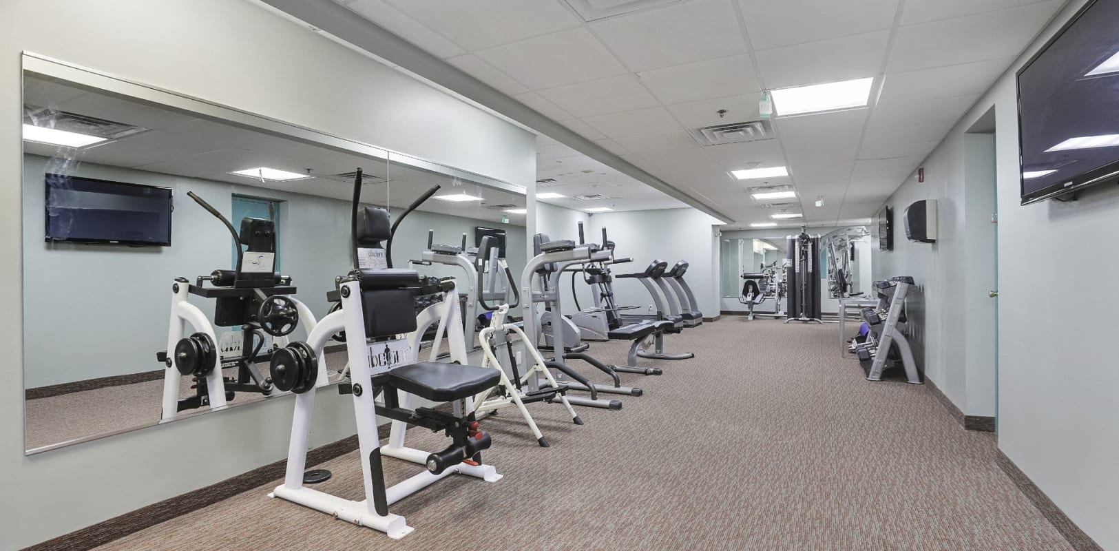 State-of-the-art fitness center at 10 Landing Lane in New Brunswick, New Jersey