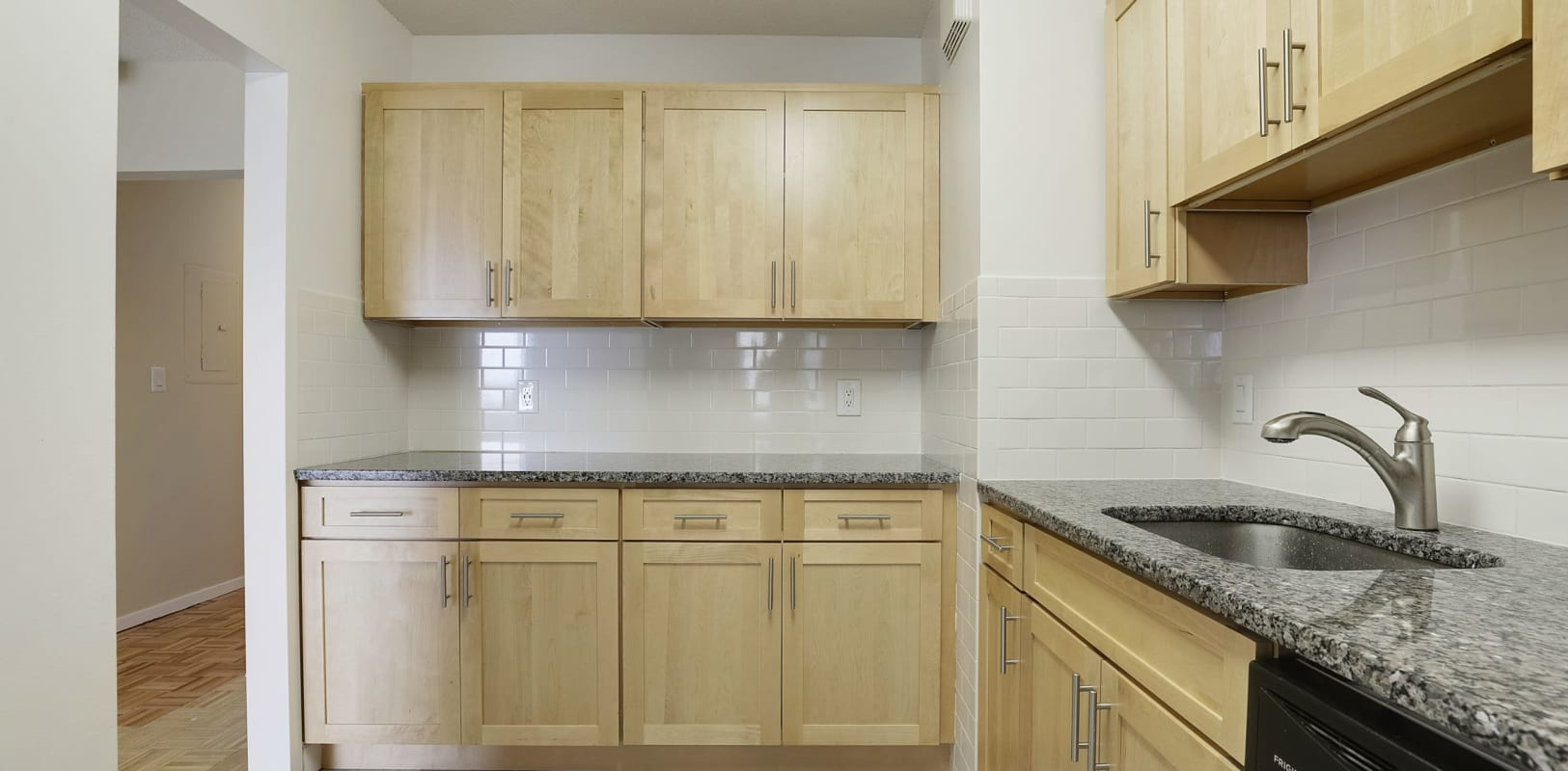 Fully equipped kitchen at 140 Prospect in Hackensack, New Jersey