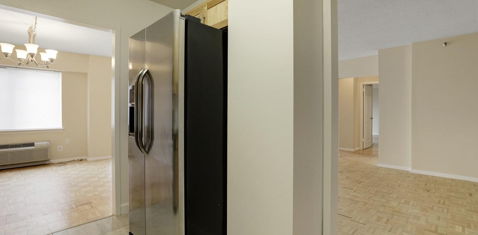 Open concept floor plans at 140 Prospect in Hackensack, New Jersey