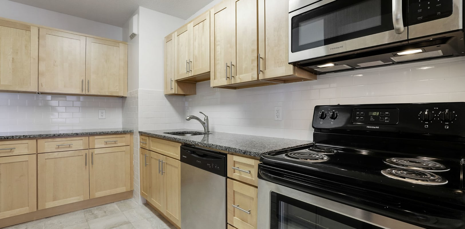 Kitchen with stainless steel appliances at 140 Prospect in Hackensack, New Jersey