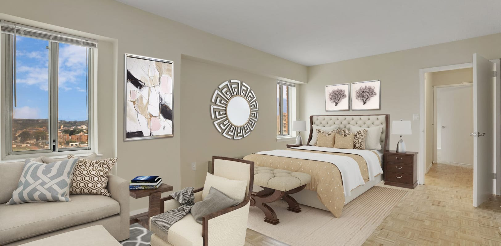 Bright, spacious bedroom at 140 Prospect in Hackensack, New Jersey