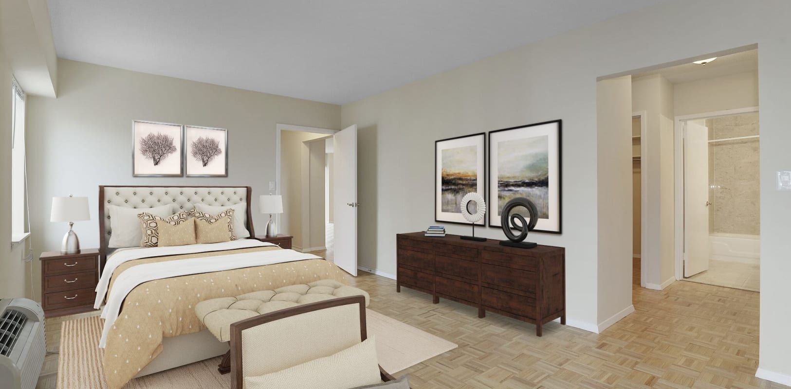 Cozy bedroom at 140 Prospect in Hackensack, New Jersey