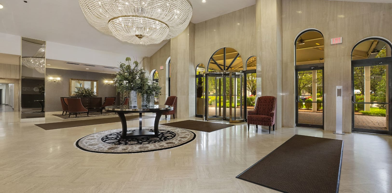 Well decorated lobby at 140 Prospect in Hackensack, New Jersey