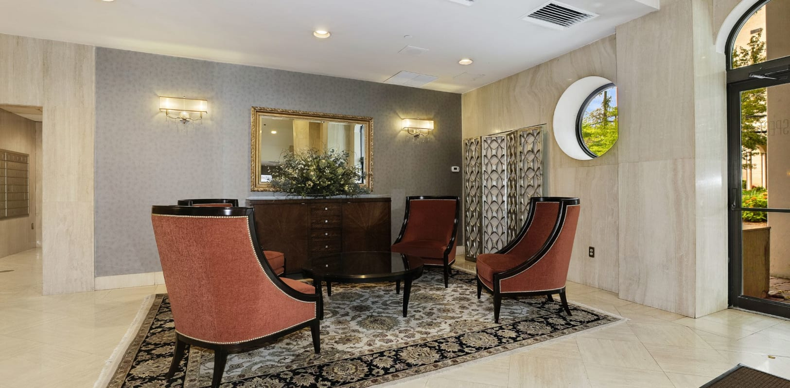 Clubhouse lounge at 140 Prospect in Hackensack, New Jersey