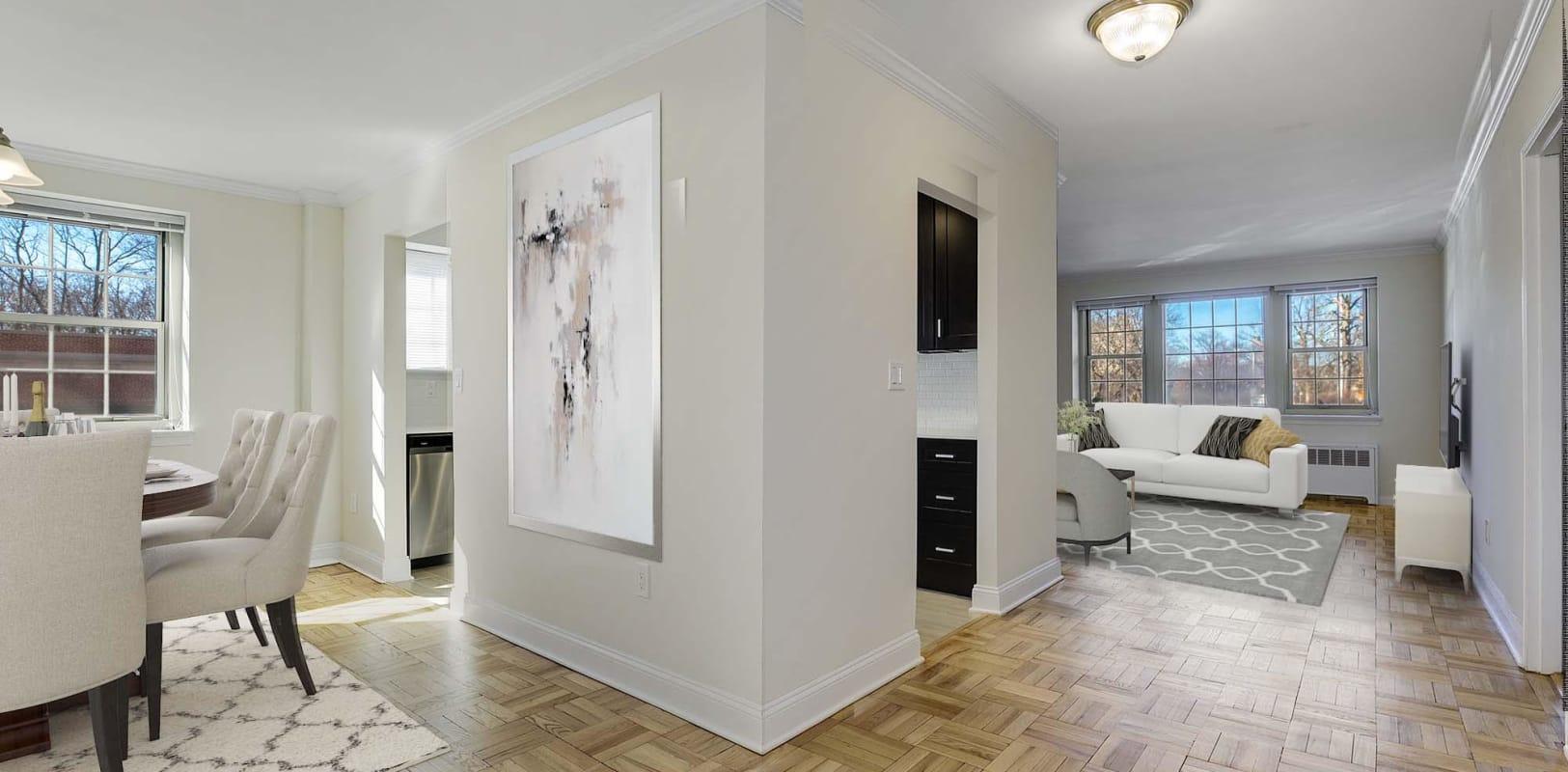 Sleek, modern apartment at Blair House in Morristown, New Jersey