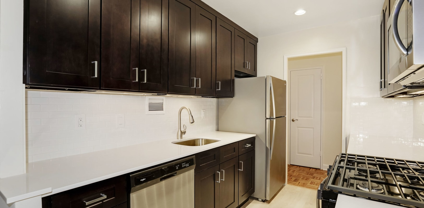 Spacious kitchen at Hamilton Court in Morristown, New Jersey