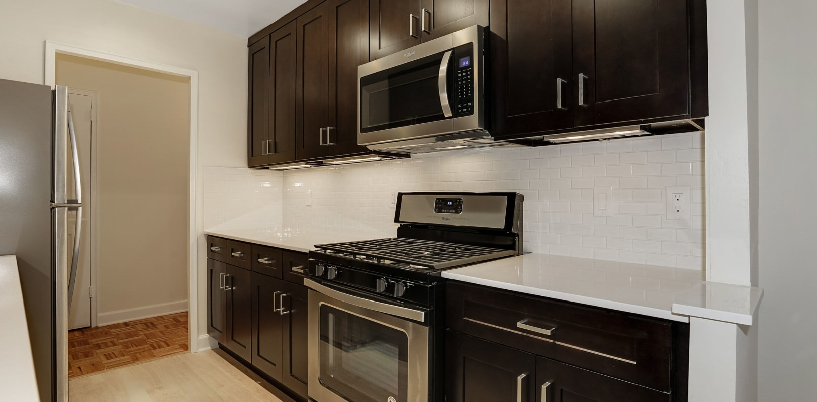 Fully equipped kitchen at Hamilton Court in Morristown, New Jersey