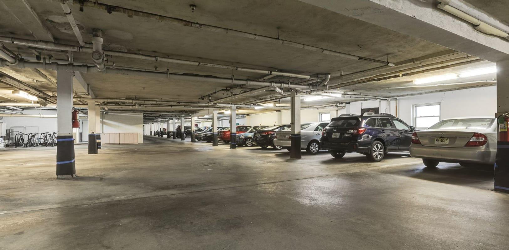 Parking garage at Hamilton Court in Morristown, New Jersey