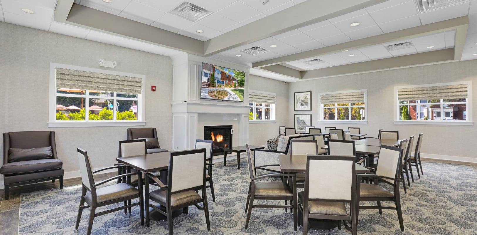 Clubhouse lounge at Nieuw Amsterdam Village in South Amboy, New Jersey