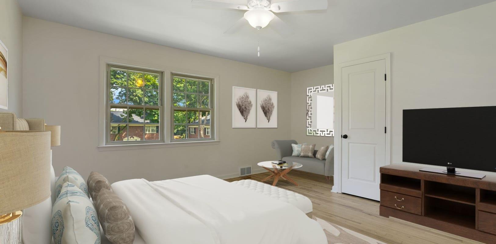 Bedroom at Northfield Townhouses in West Orange, New Jersey