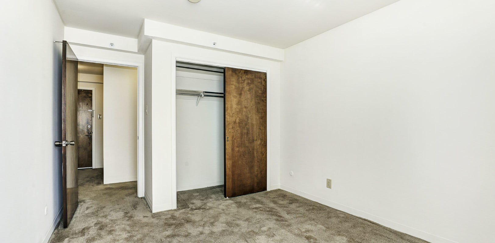 Bedroom with a walk-in closet at Bethlehem Towers in Bethlehem, Pennsylvania