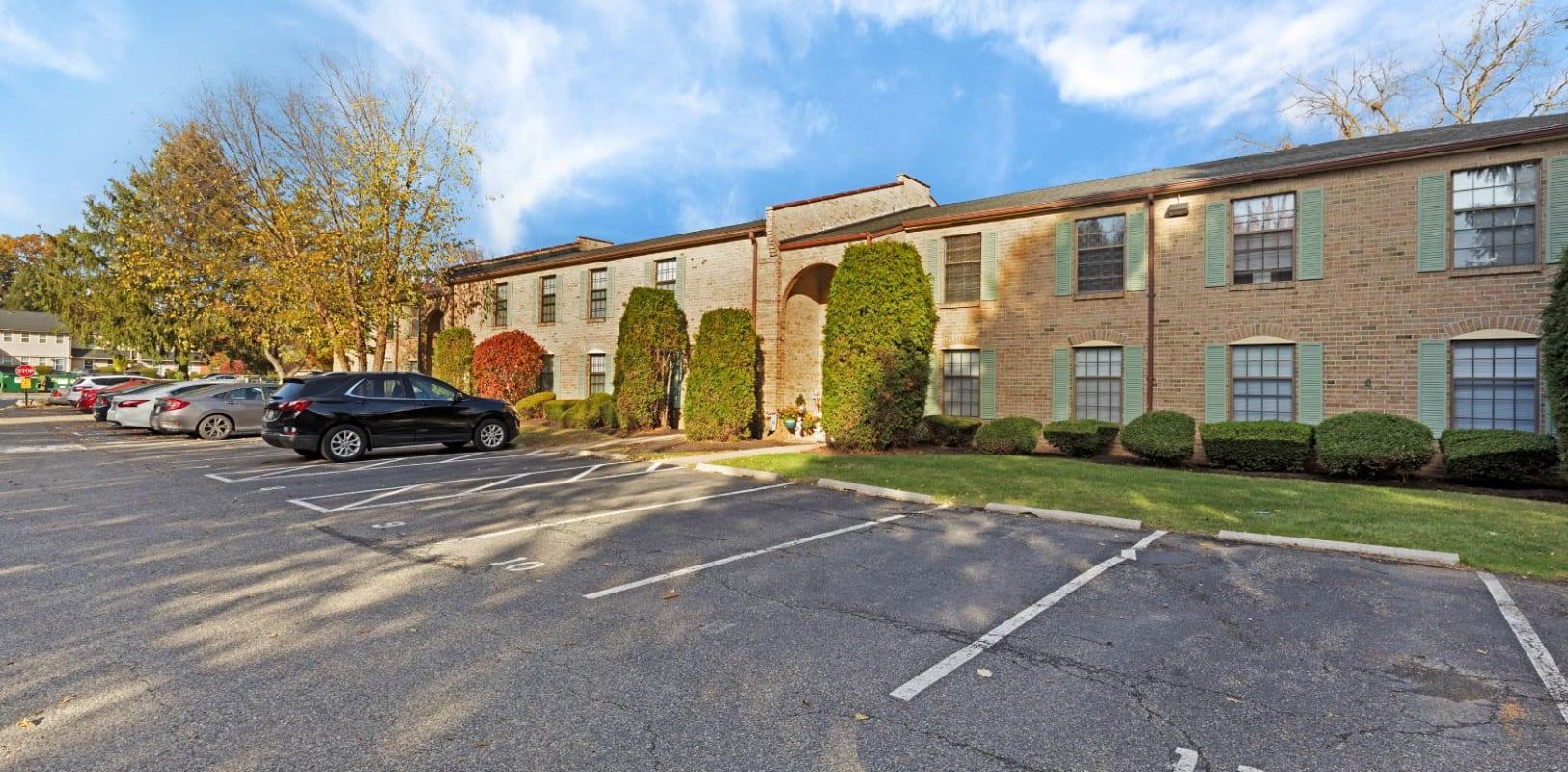 Parking lot at Bridle Path Apartments in Bethlehem, Pennsylvania