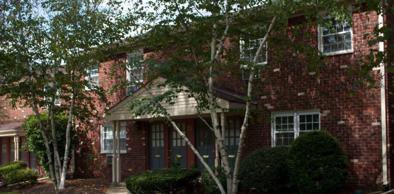 Exterior of Brookwood Gardens in East Windsor, New Jersey