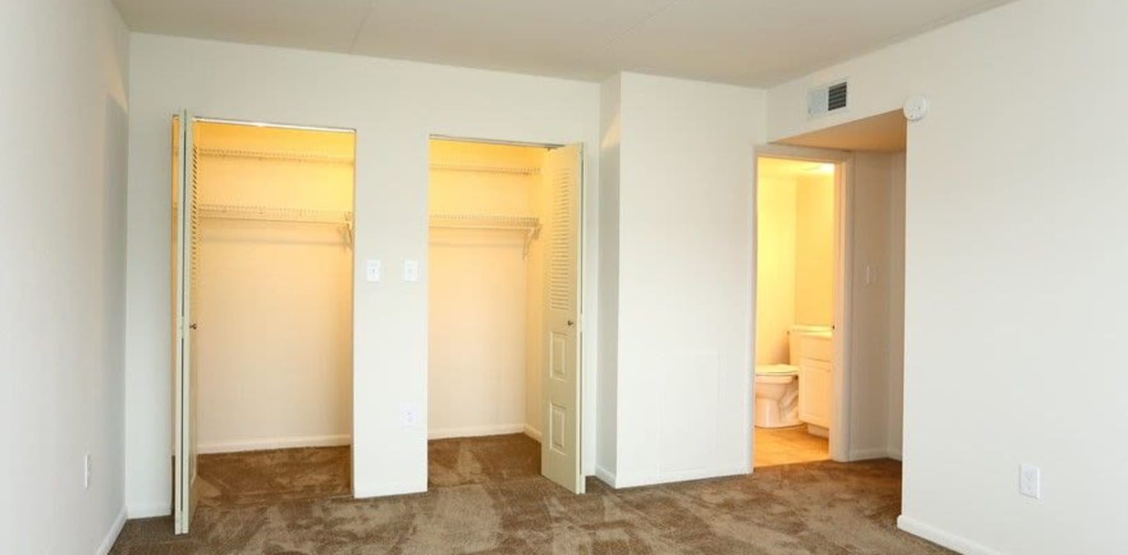 Bedroom with plenty of closet space at Country Club in Reading, Pennsylvania
