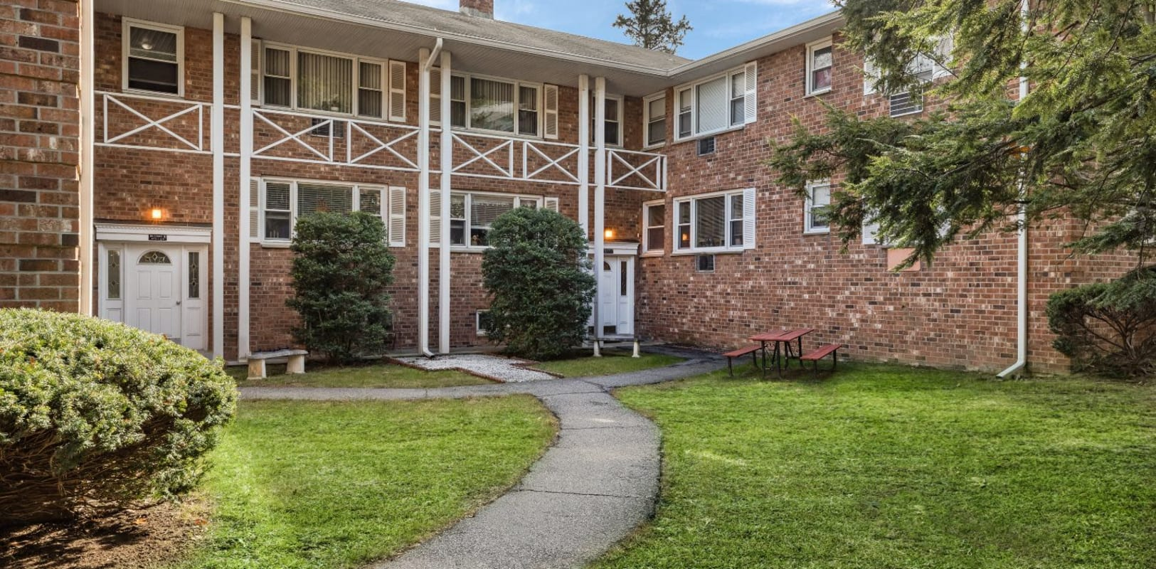 Exterior of Garret Village Apartments in Clifton, New Jersey