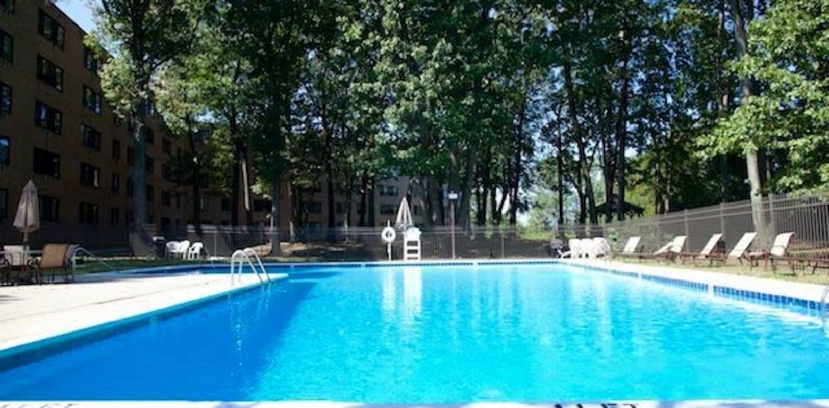 Sparkling swimming pool at Highgate in Ewing, New Jersey