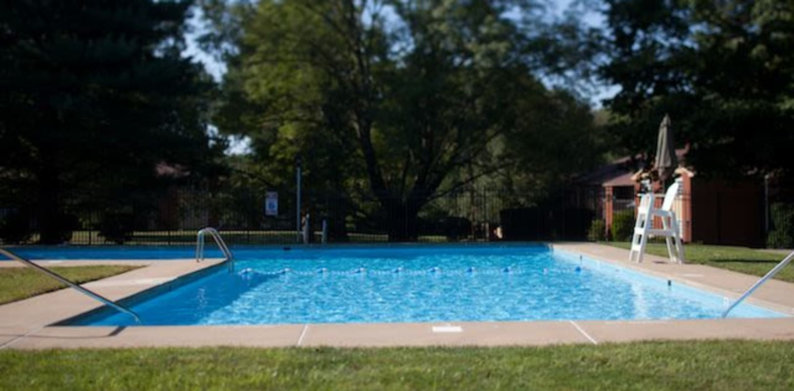 Sparkling swimming pool at Eastgate Apartments in Ewing, New Jersey