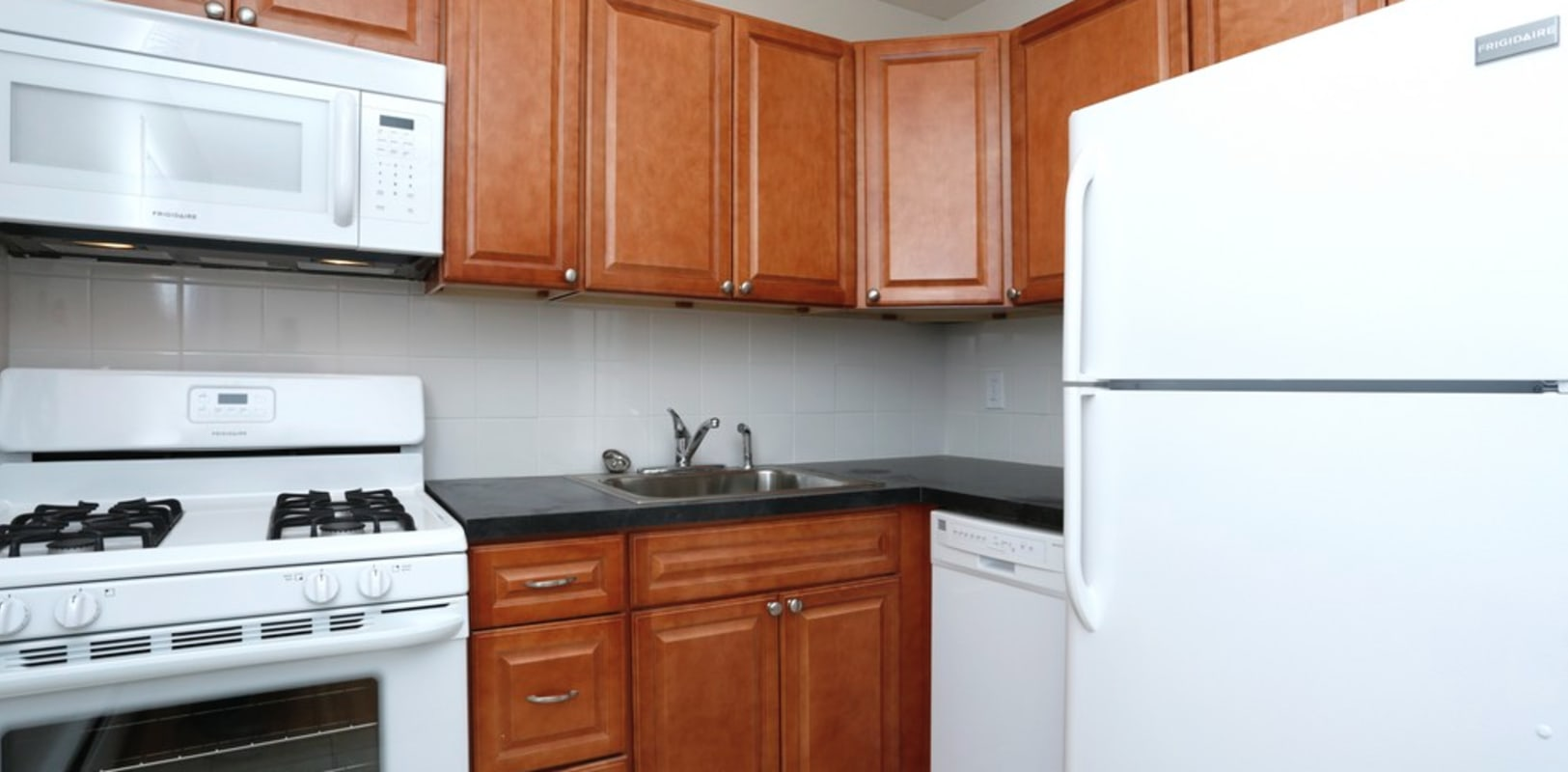 Fully equipped kitchen at Eastgate Apartments in Ewing, New Jersey
