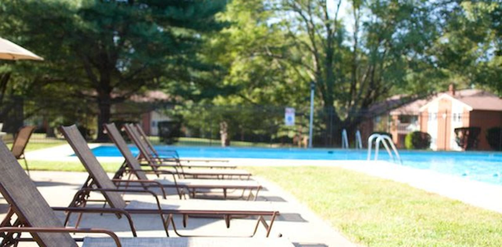 Poolside lounge at Eastgate Apartments in Ewing, New Jersey