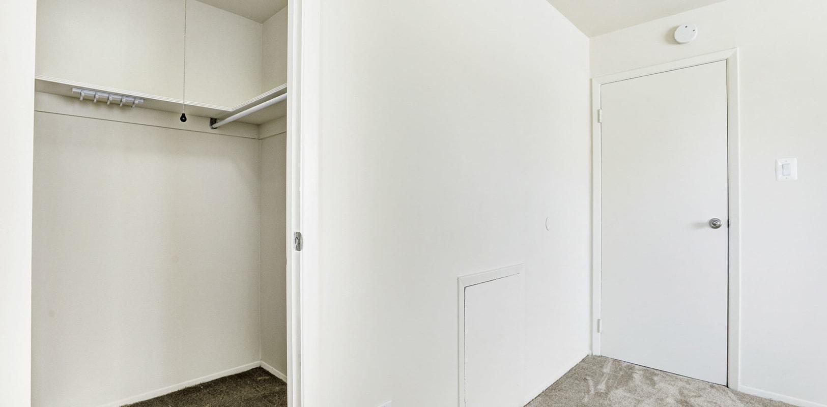Large bedroom closet at Lehigh Plaza Apartments in Bethlehem, Pennsylvania