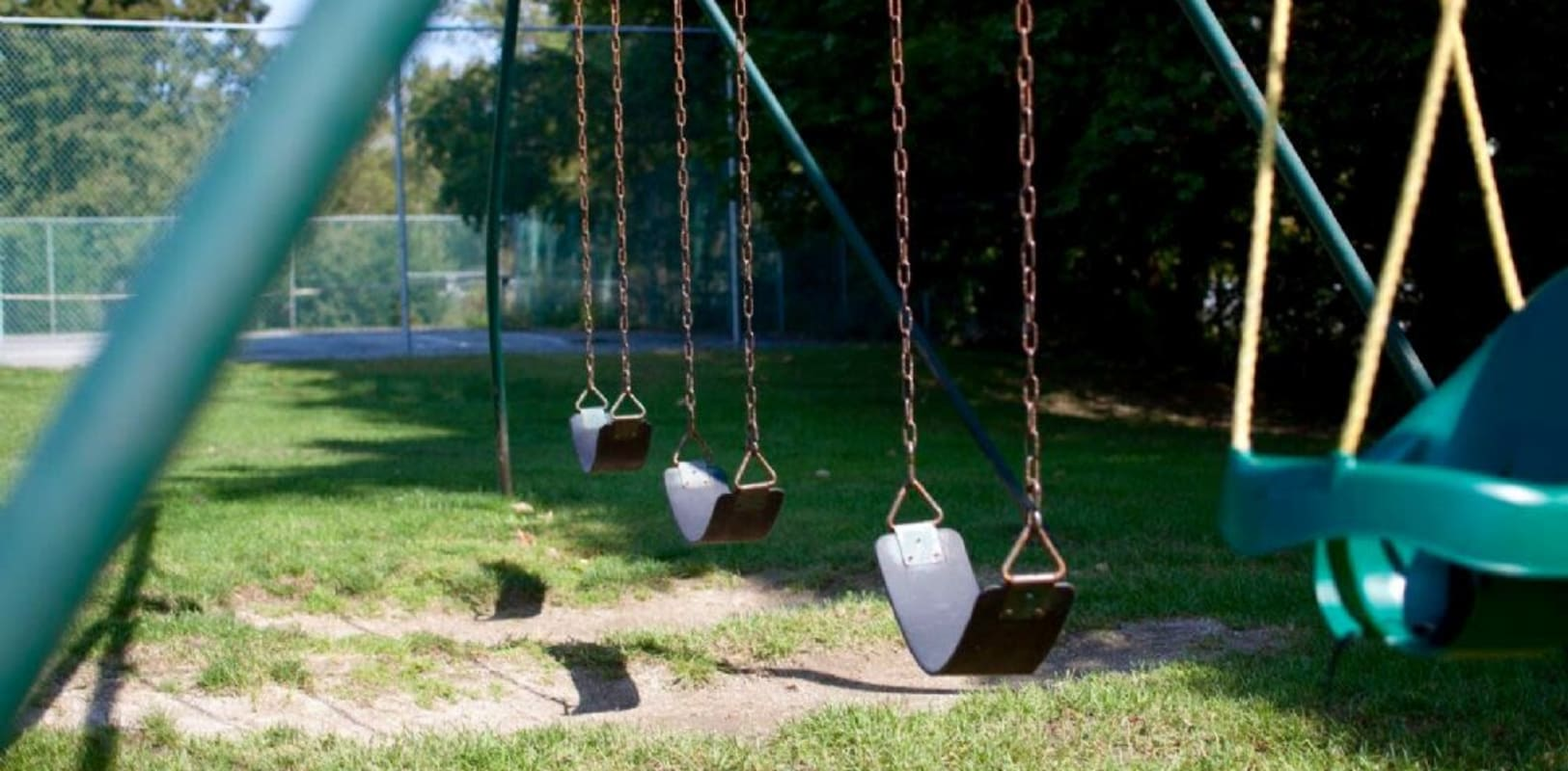Community park with swings in Oley, Pennsylvania near Oley Meadows