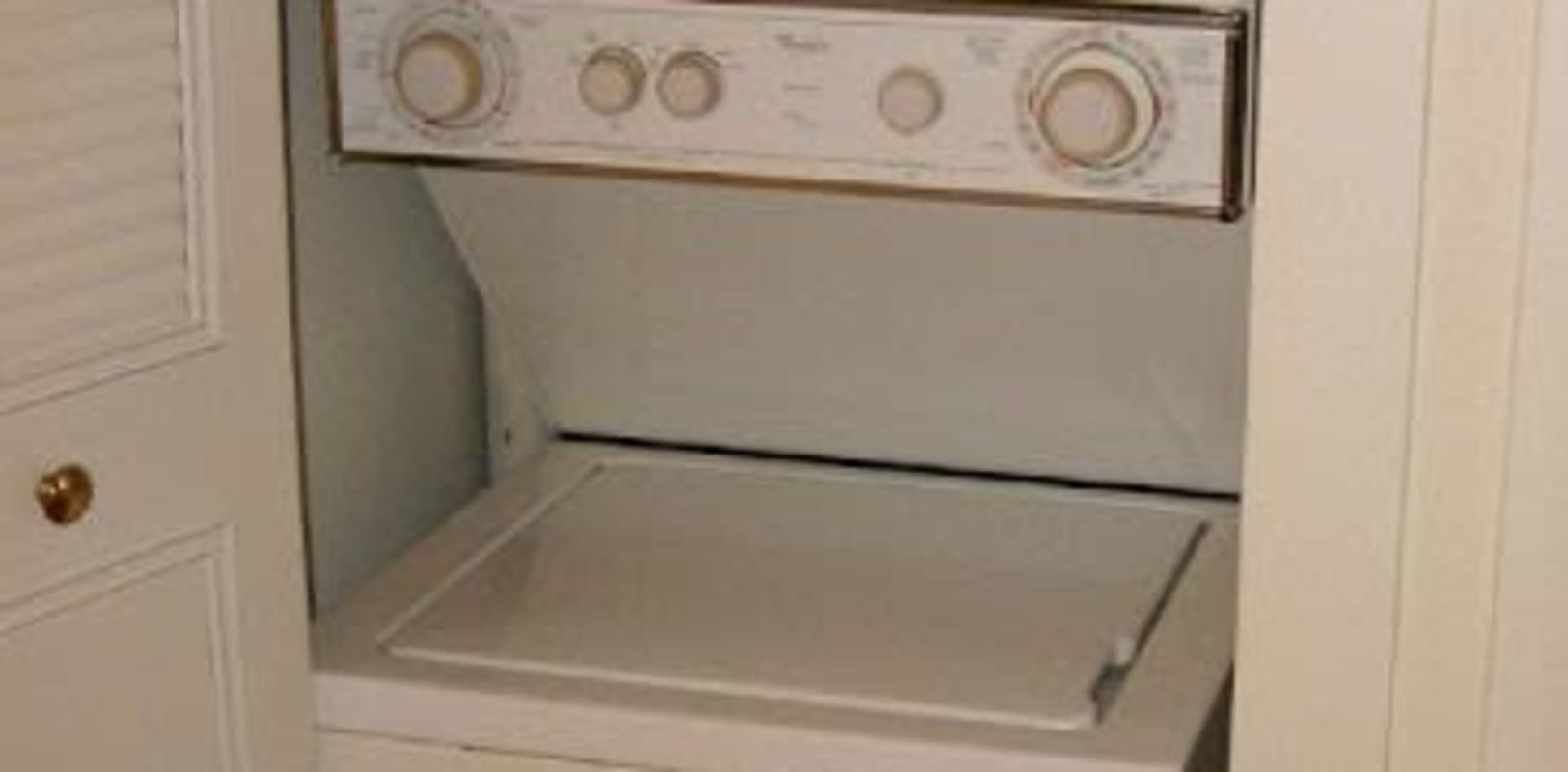 Washer and dryer in the unit at River Villas in Palmyra, New Jersey