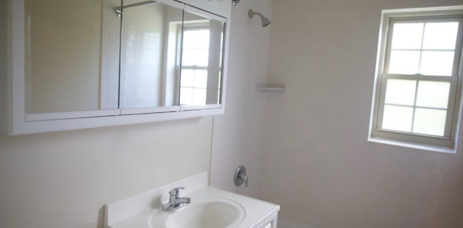 Bathroom at Sharon Arms Apartments in Robbinsville, New Jersey
