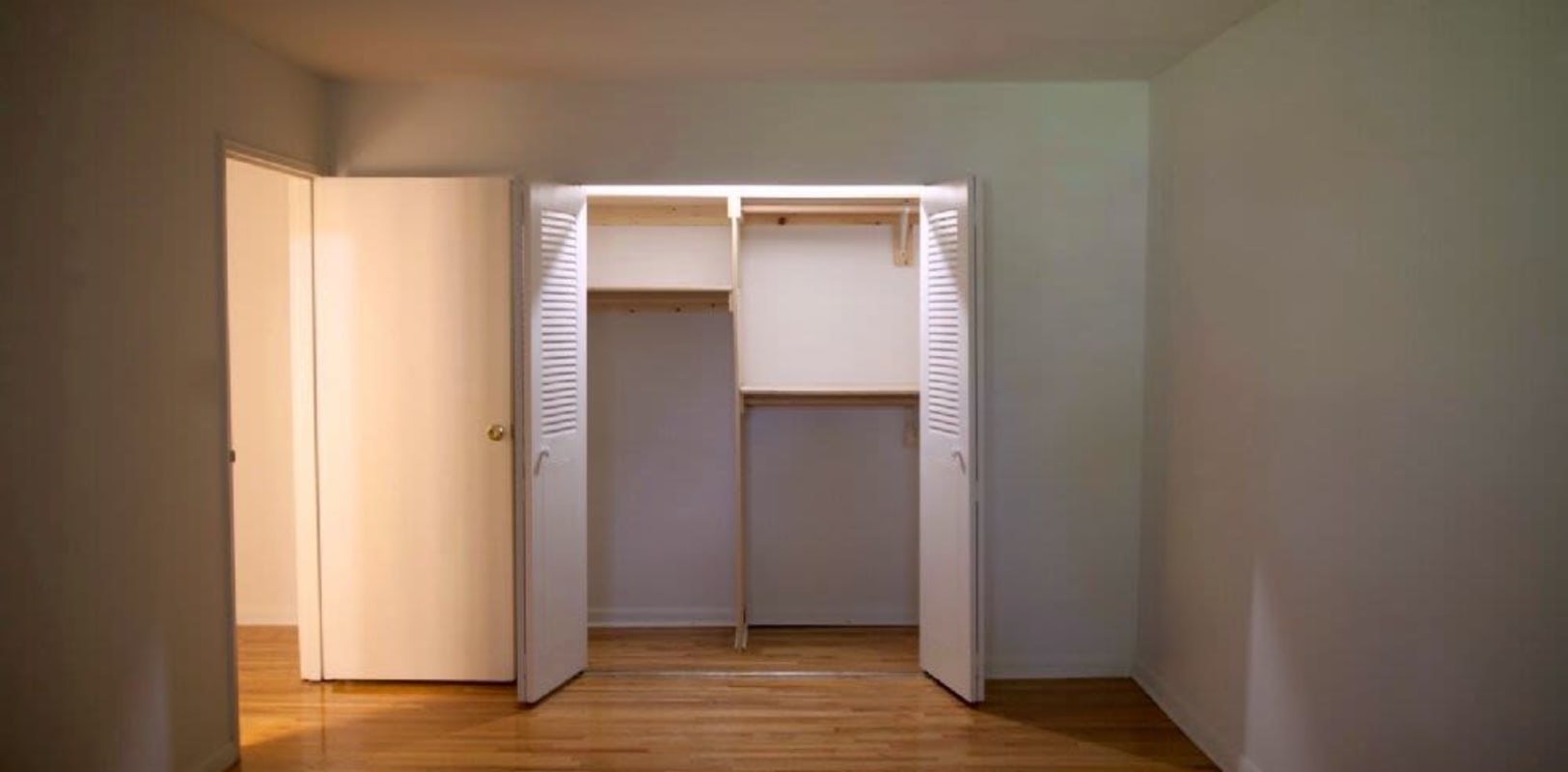 Ample closet space in bedroom at Versailles Apartments in Ewing, New Jersey