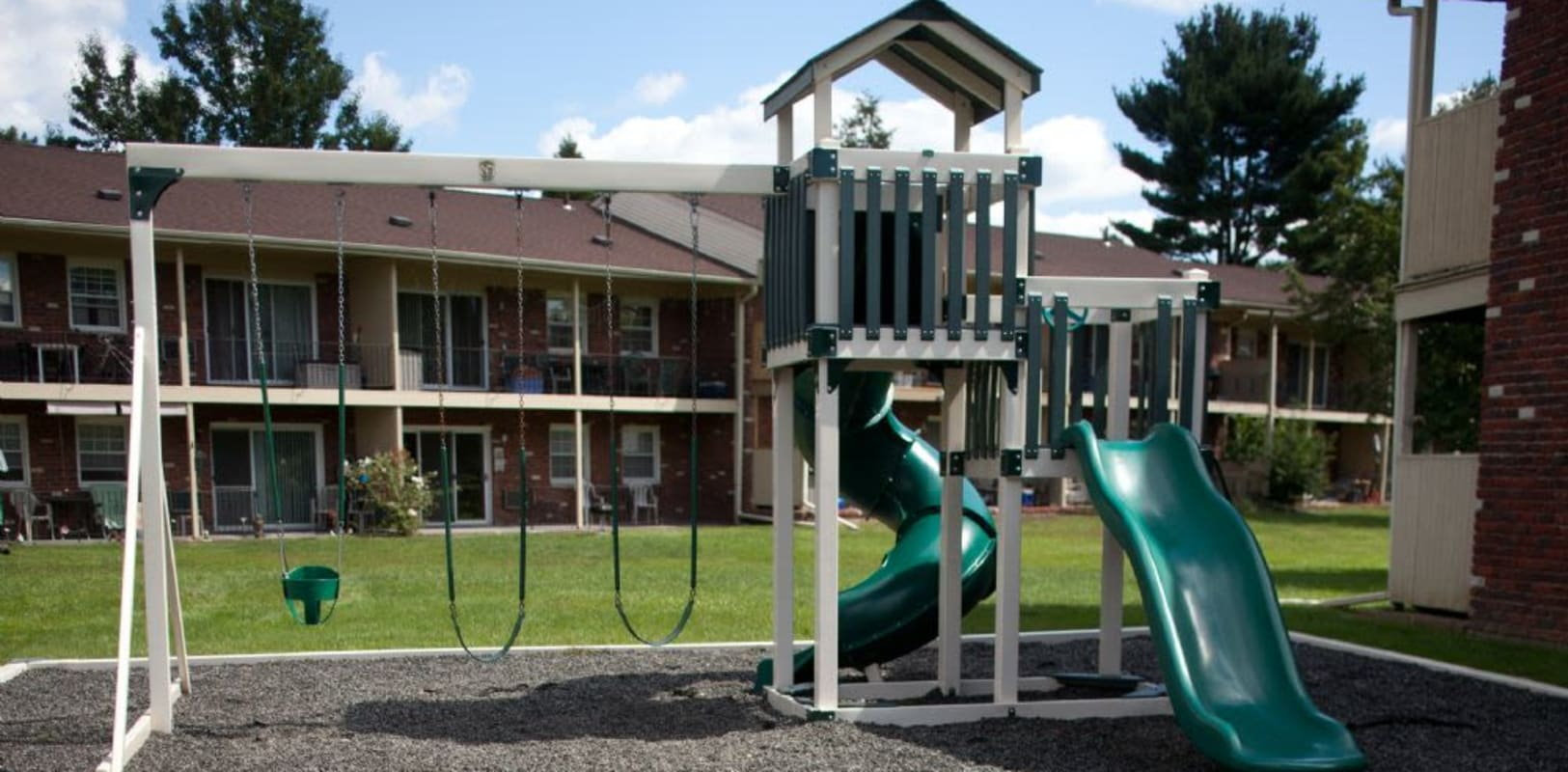 Community playground at Wynbrook West Apartments in East Windsor, New Jersey