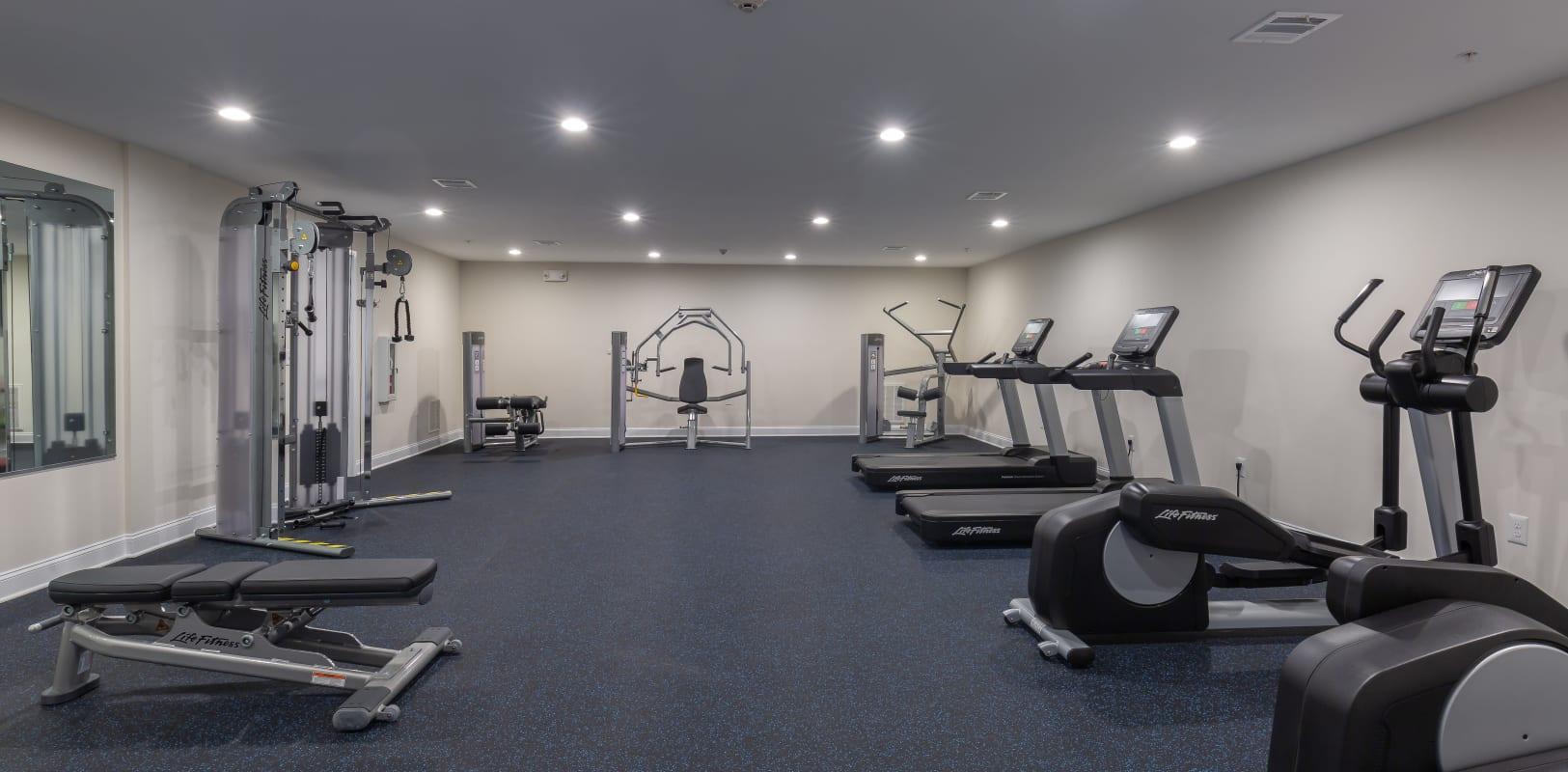 Fitness center at Zephyr Ridge in Cedar Grove, New Jersey
