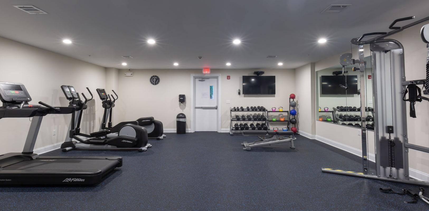 Fitness area at Zephyr Ridge in Cedar Grove, New Jersey