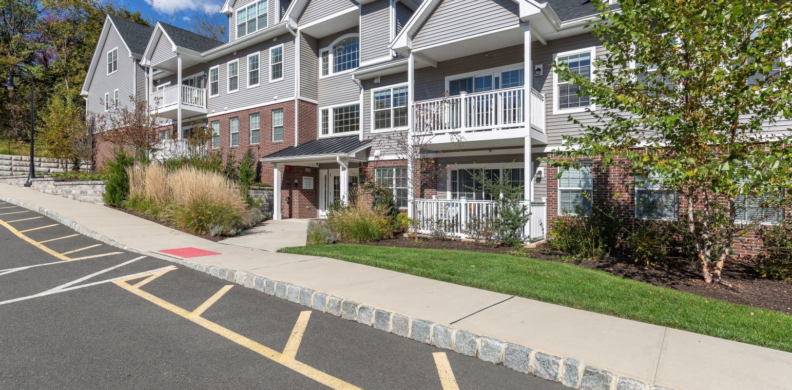 Entrance to a Zephyr Ridge apartment in Cedar Grove, New Jersey