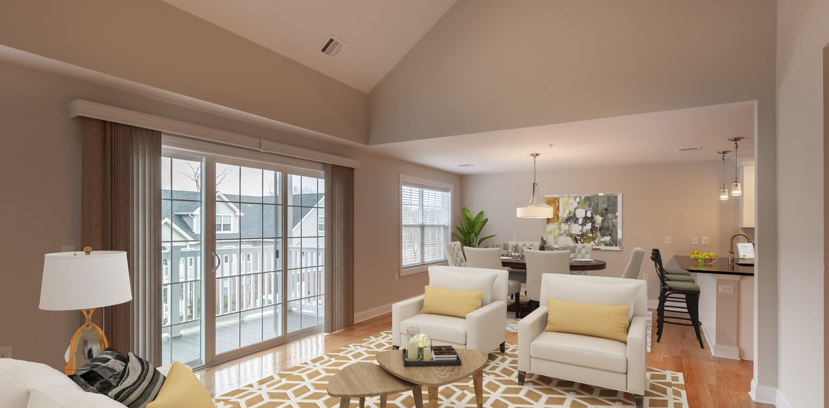 Large living room with lots of light at Zephyr Ridge in Cedar Grove, New Jersey