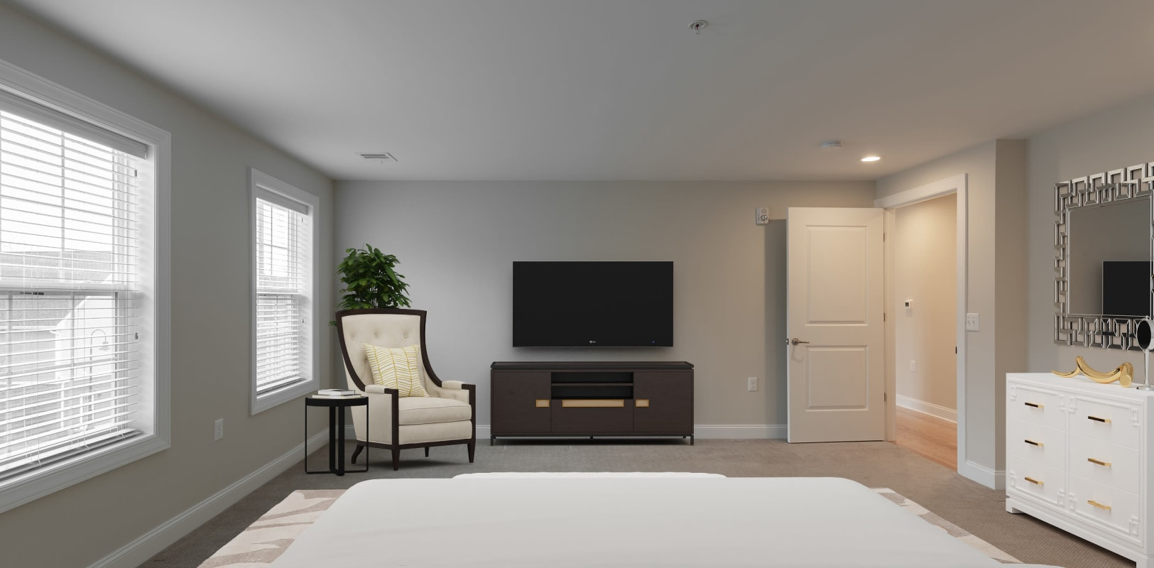 Bedroom with tons of space at Zephyr Ridge in Cedar Grove, New Jersey