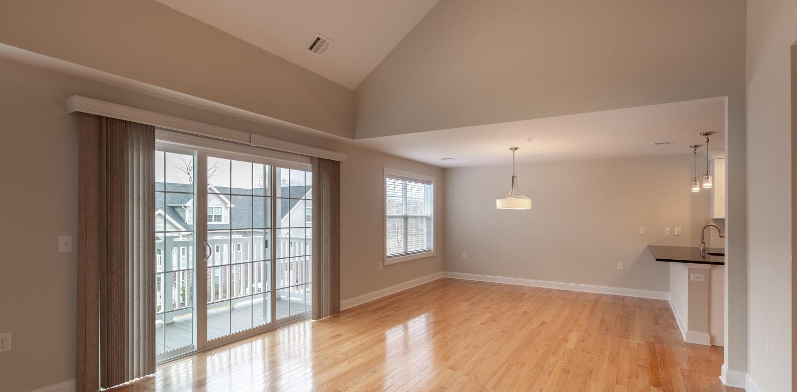 Very spacious living room with hardwood floors at Zephyr Ridge in Cedar Grove, New Jersey