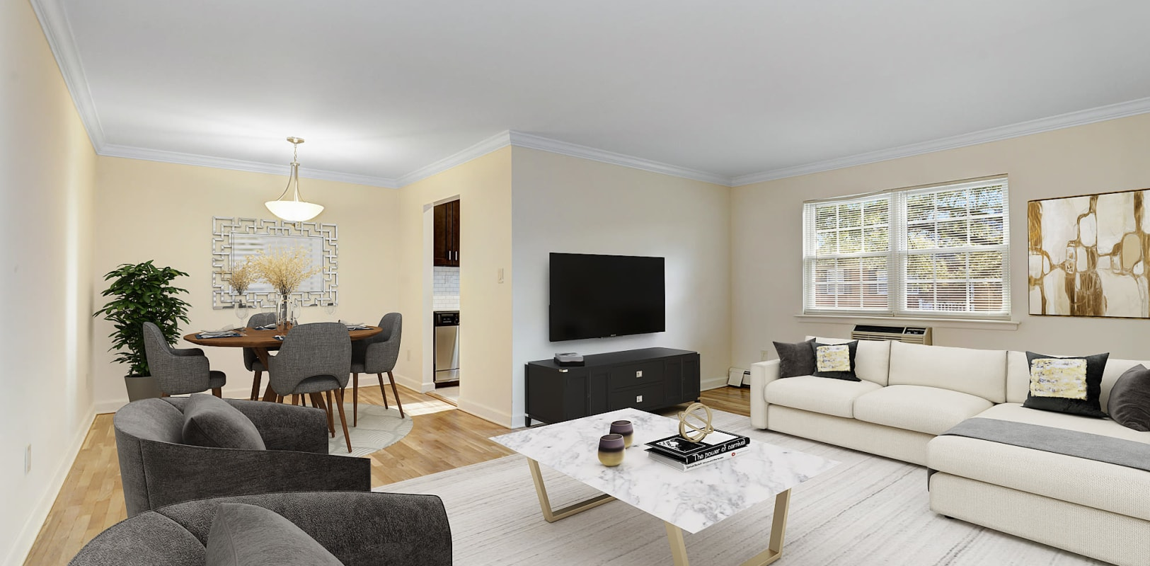 Large living room at Park Lane Apartments in Little Falls, New Jersey