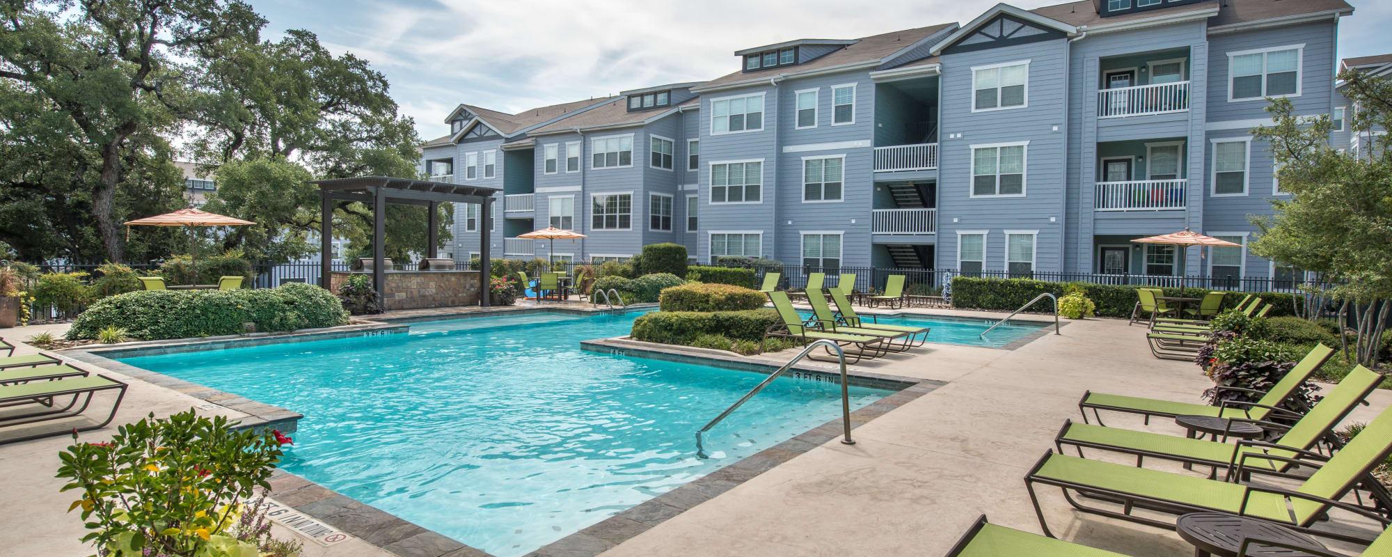 Resort style pool at Archer Stone Canyon in San Antonio, Texas