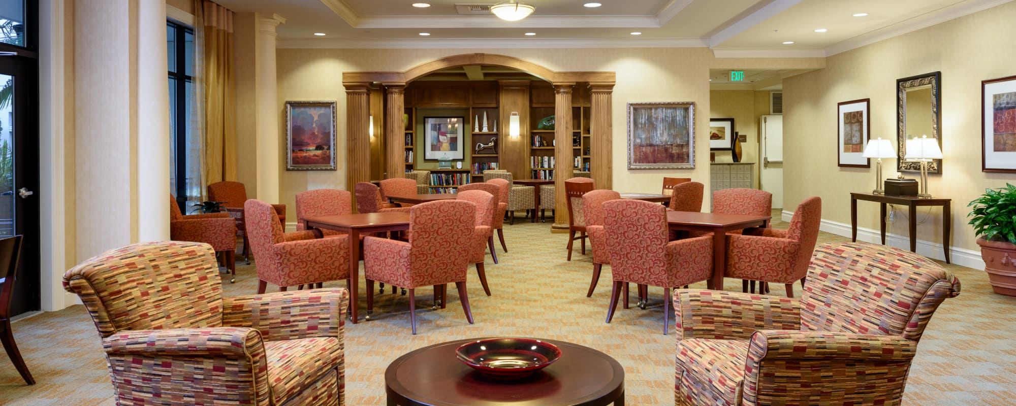 Common area at The Bellettini in Bellevue, Washington