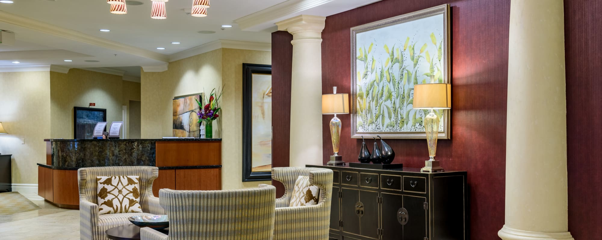 Our senior living community in Bellevue, Washington offer a common area